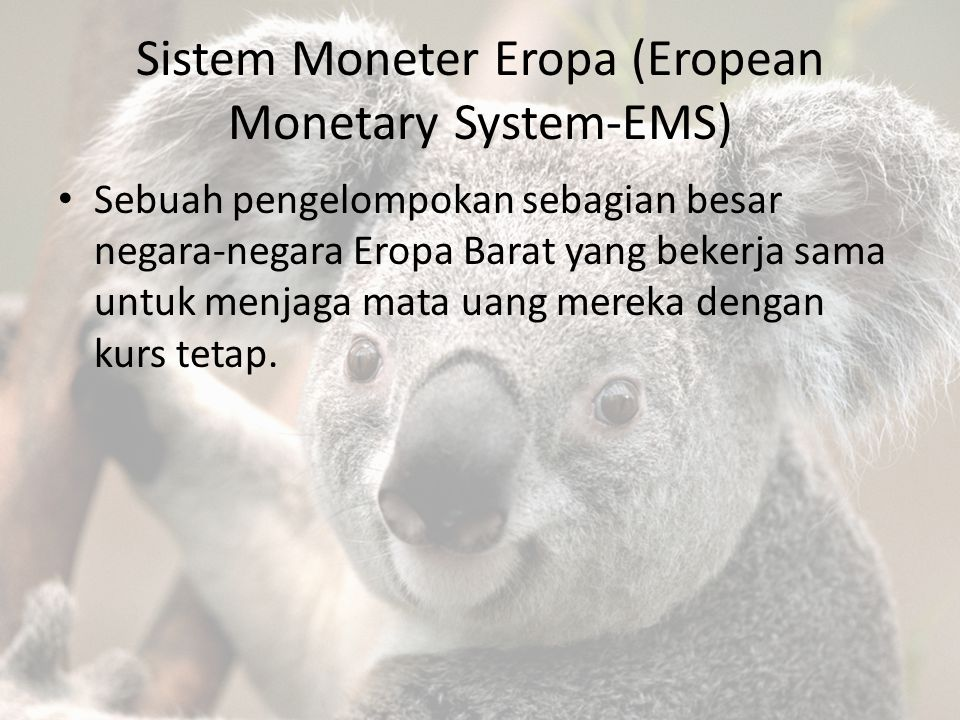 Sistem Moneter Eropa (Eropean Monetary System-EMS)