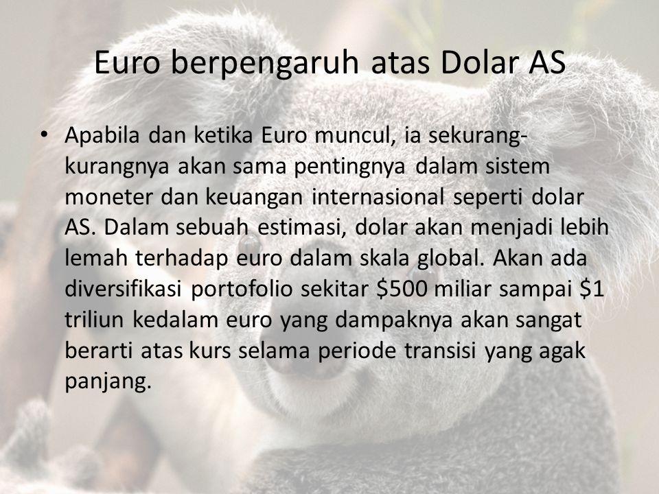 Euro berpengaruh atas Dolar AS