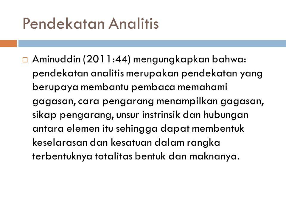 Pendekatan Analitis