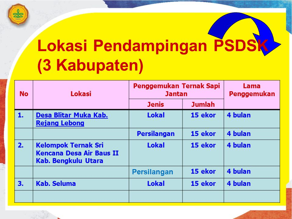 Lokasi Pendampingan PSDSK (3 Kabupaten)