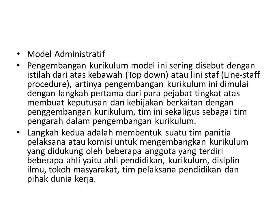 Model Administratif