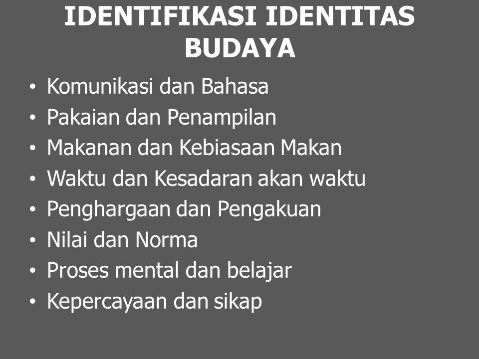 IDENTIFIKASI IDENTITAS BUDAYA