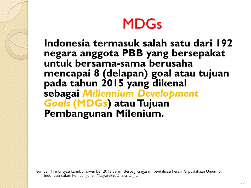 MDGs