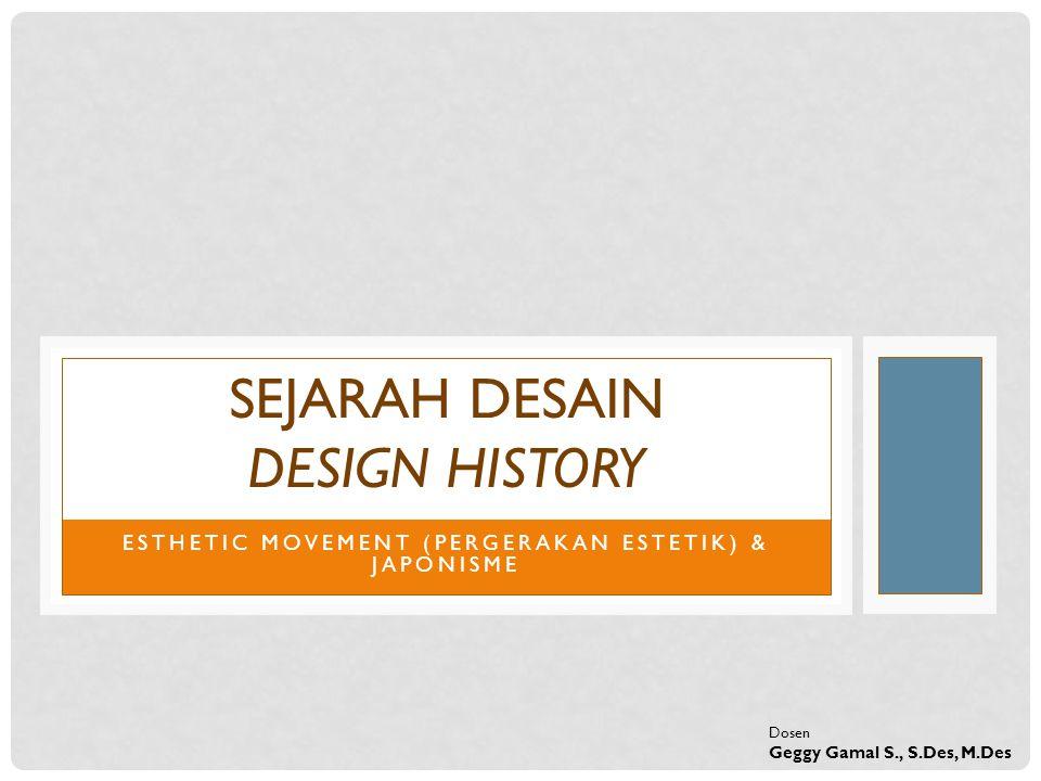 SEJARAH DESAIN DESIGN HISTORY