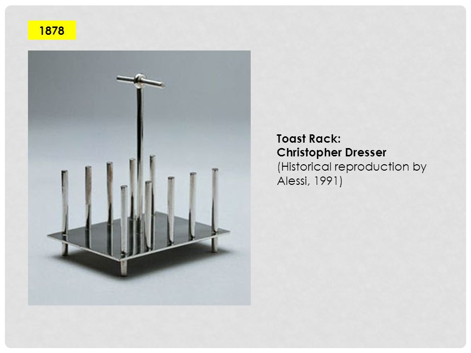 1878 Toast Rack: Christopher Dresser (Historical reproduction by Alessi, 1991)