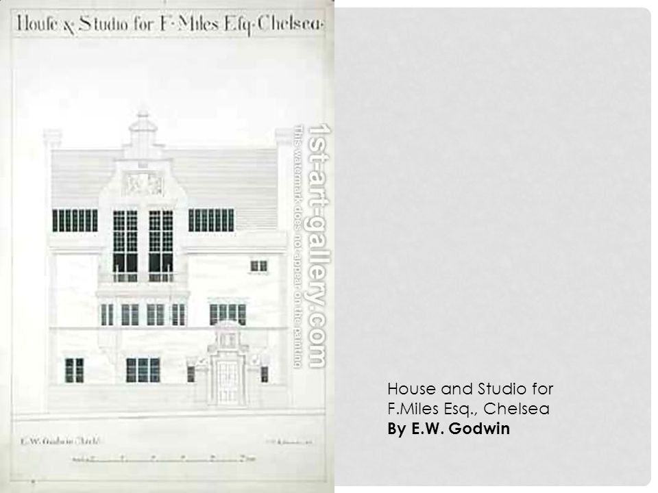 House and Studio for F.Miles Esq., Chelsea By E.W. Godwin