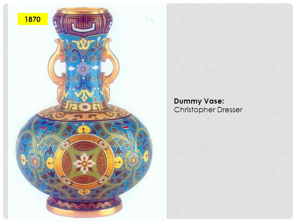 1870 Dummy Vase: Christopher Dresser