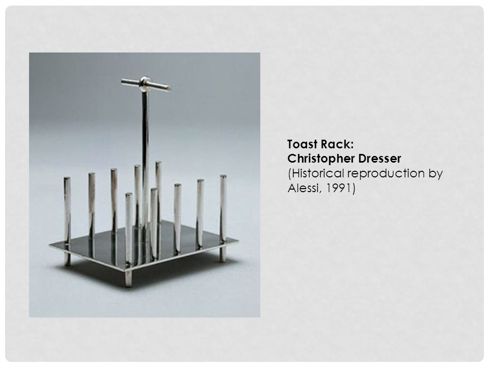 Toast Rack: Christopher Dresser (Historical reproduction by Alessi, 1991)