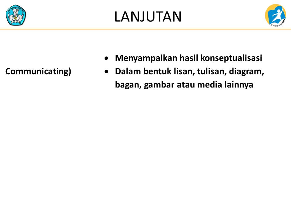 LANJUTAN Mengkomunikasikan (Communicating)