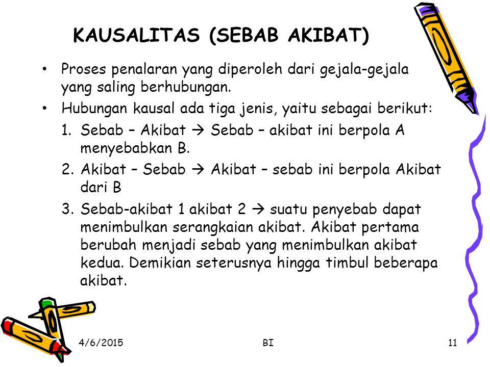 KAUSALITAS (SEBAB AKIBAT)