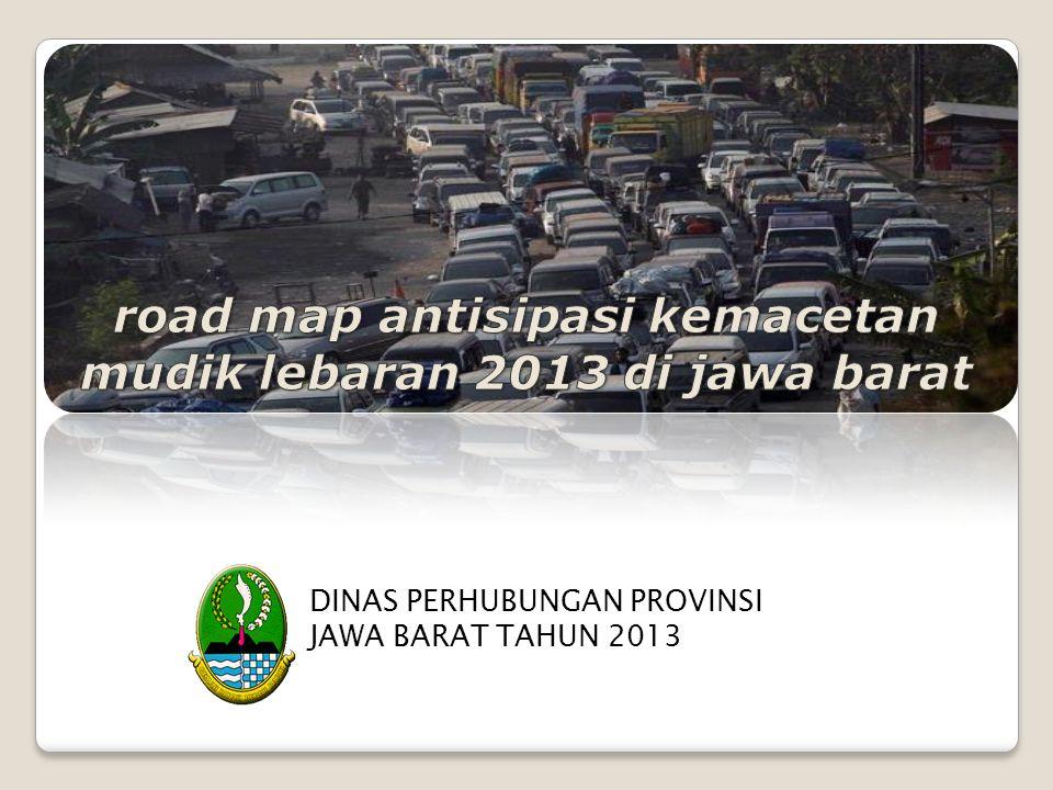 road map antisipasi kemacetan mudik lebaran 2013 di jawa barat