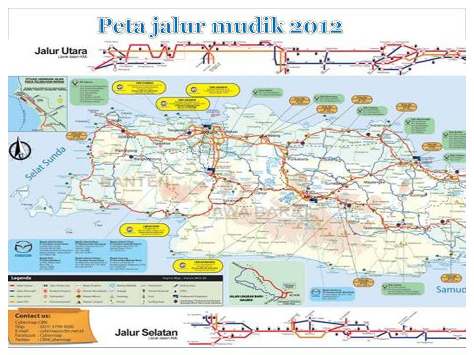 Peta jalur mudik 2012