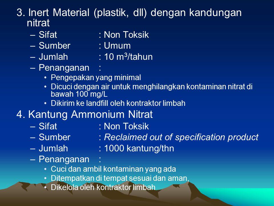 3. Inert Material (plastik, dll) dengan kandungan nitrat