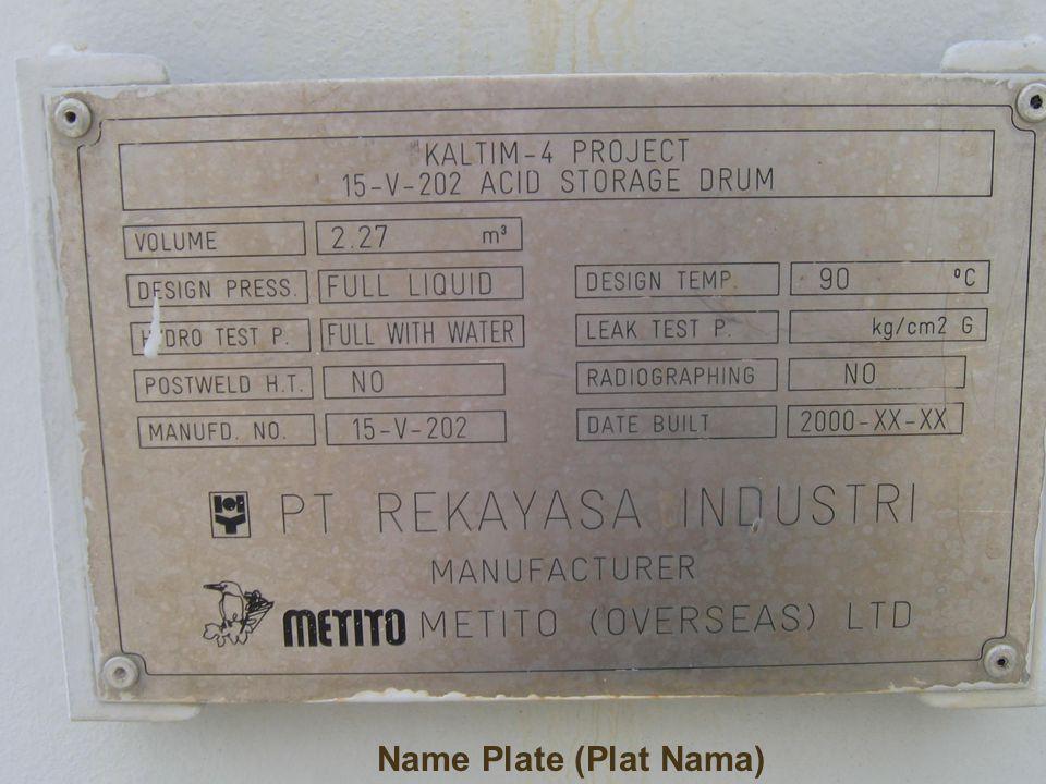 Name Plate (Plat Nama)