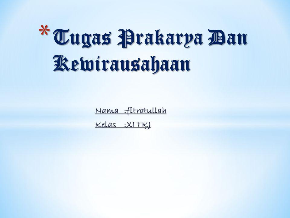 Tugas Prakarya Dan Kewirausahaan
