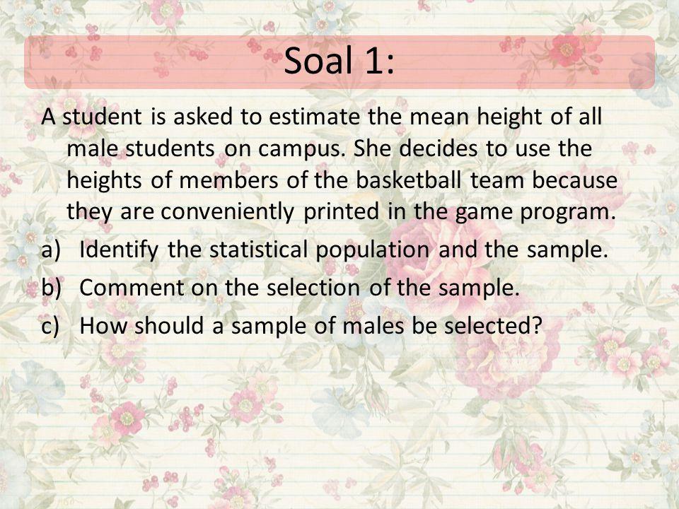 Soal 1: