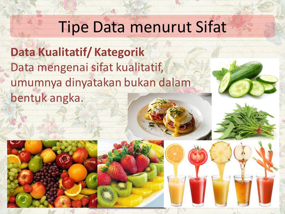 Tipe Data menurut Sifat
