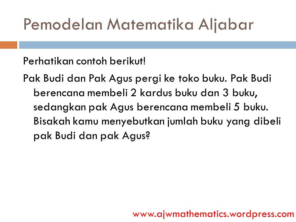 Pemodelan Matematika Aljabar