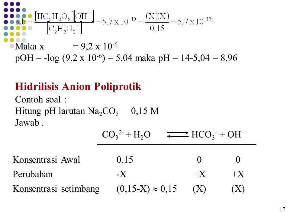 Hidrilisis Anion Poliprotik