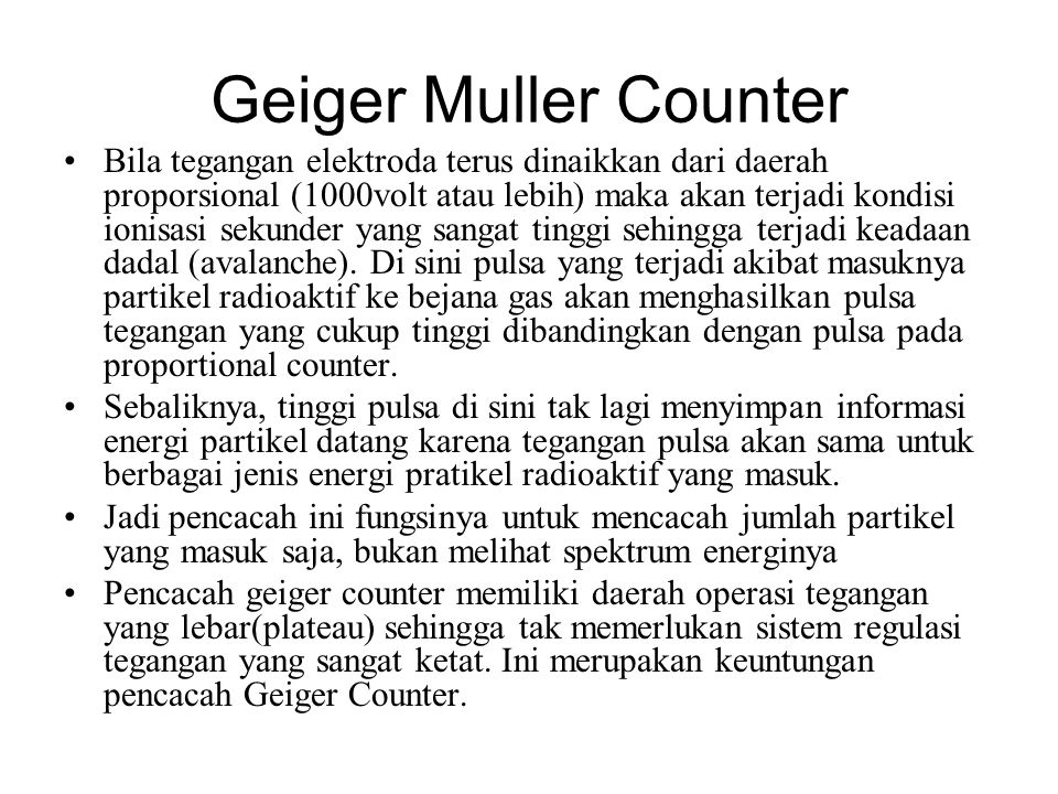 Geiger Muller Counter