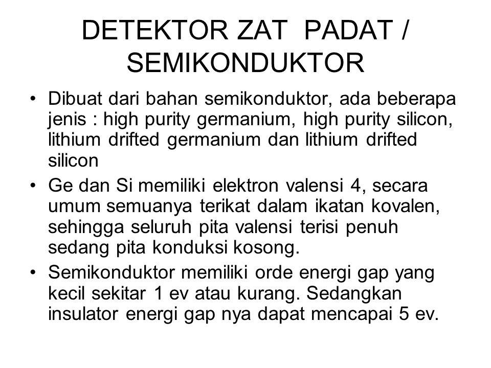 DETEKTOR ZAT PADAT / SEMIKONDUKTOR