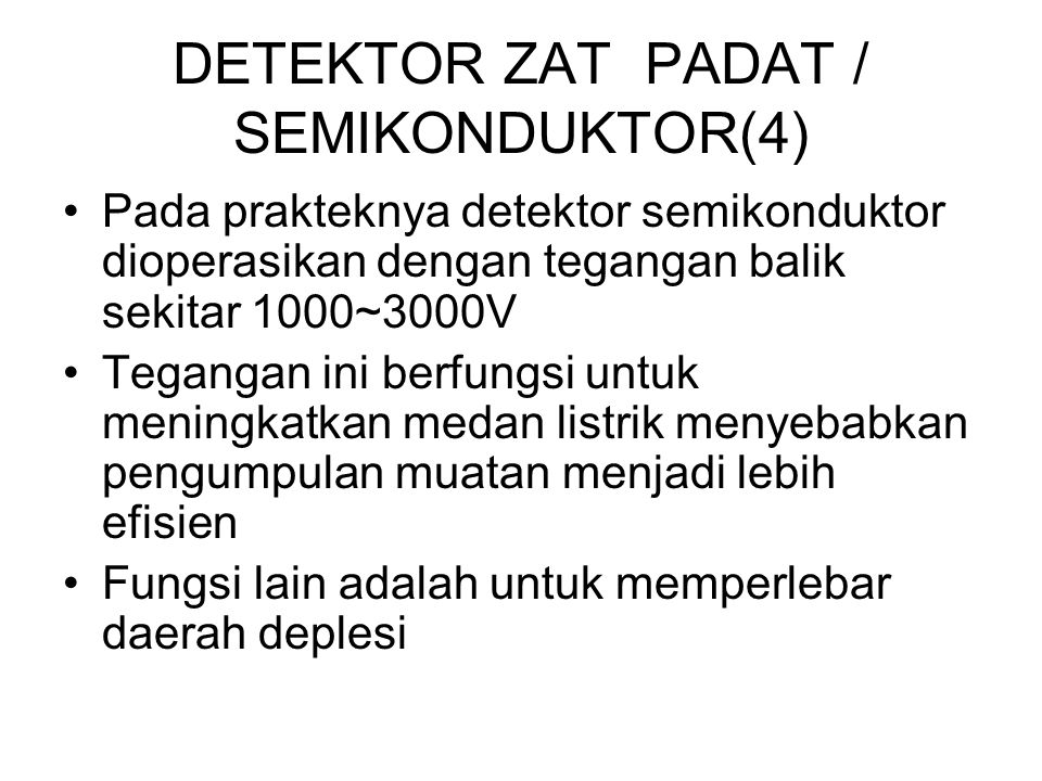 DETEKTOR ZAT PADAT / SEMIKONDUKTOR(4)