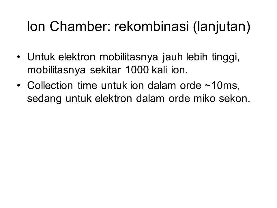 Ion Chamber: rekombinasi (lanjutan)