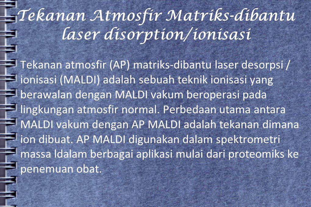 Tekanan Atmosfir Matriks-dibantu laser disorption/ionisasi