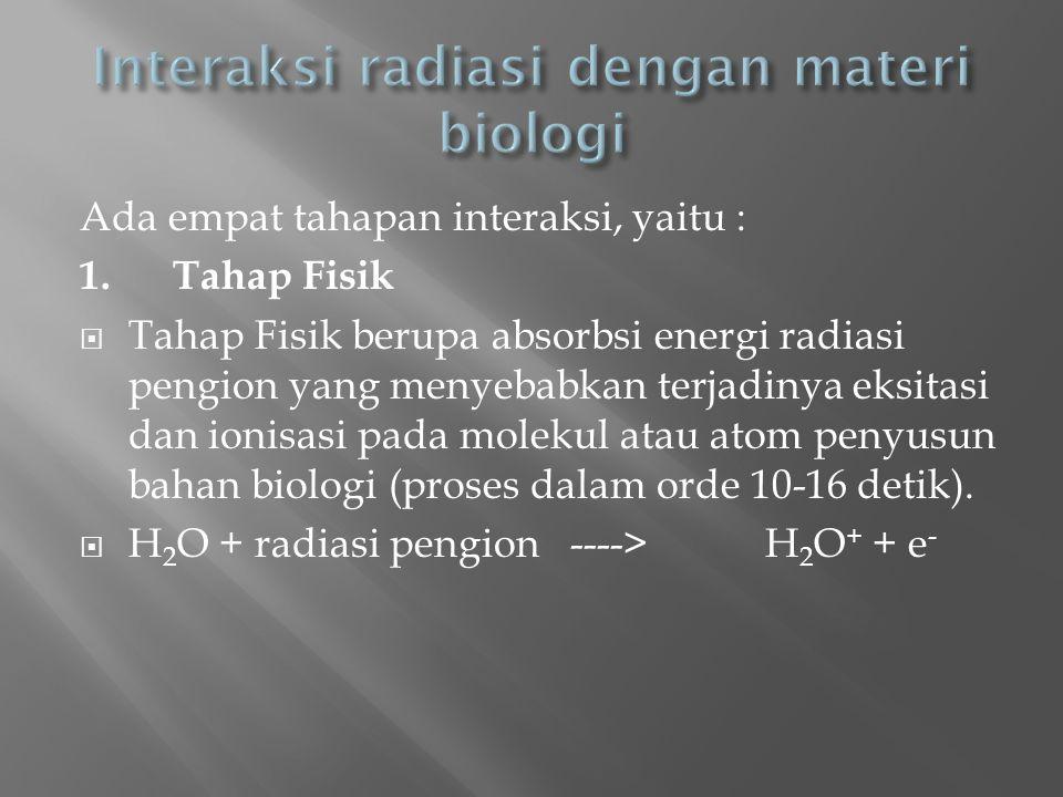 Interaksi radiasi dengan materi biologi