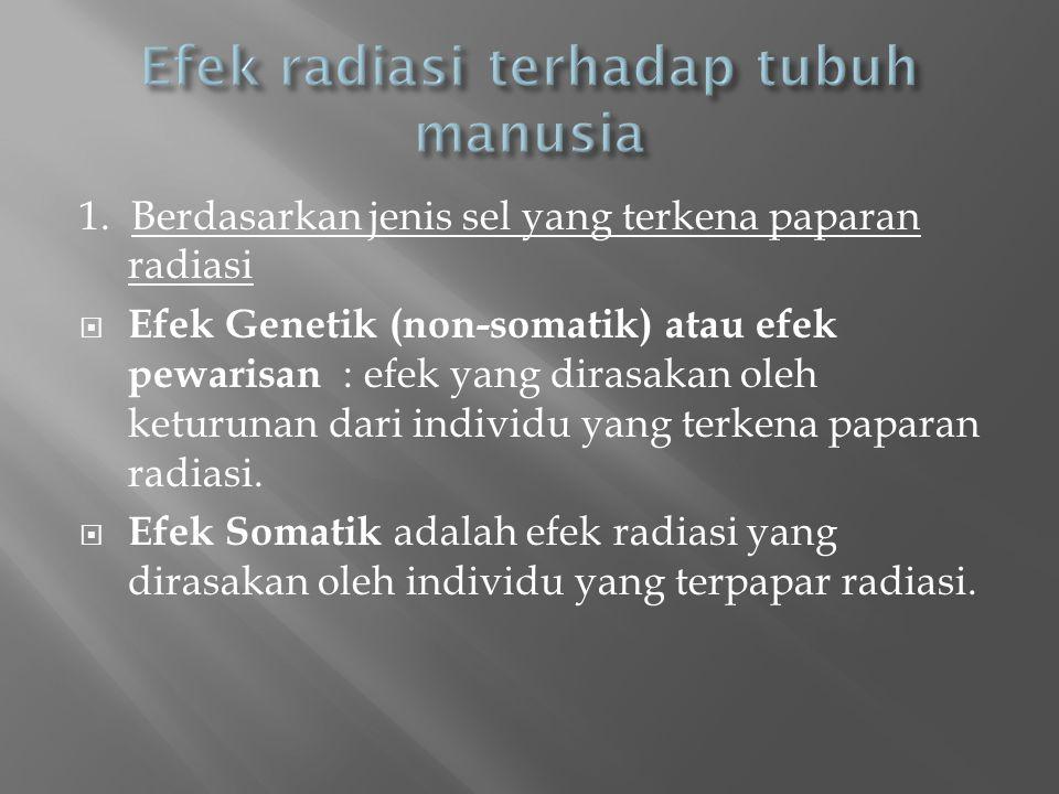 Efek radiasi terhadap tubuh manusia