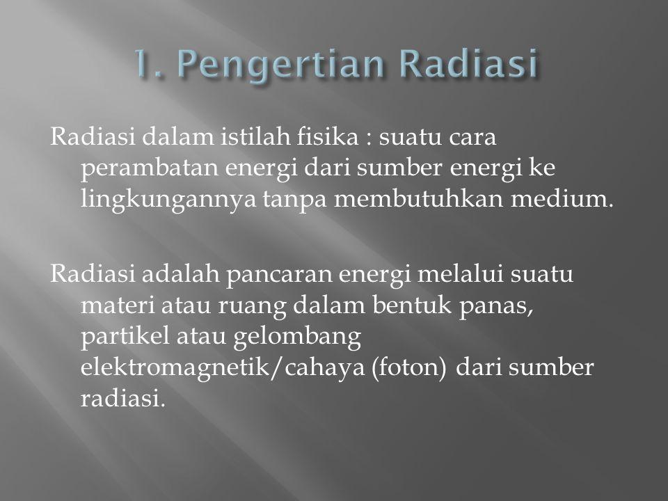 1. Pengertian Radiasi