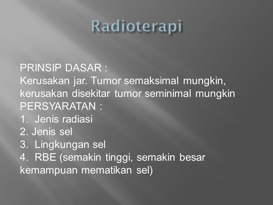 Radioterapi PRINSIP DASAR :