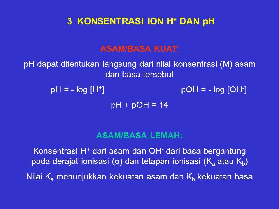 3 KONSENTRASI ION H+ DAN pH
