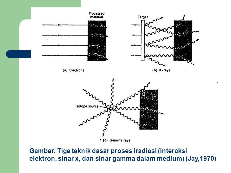 Gambar. Tiga teknik dasar proses iradiasi (interaksi