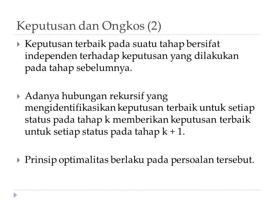 Keputusan dan Ongkos (2)