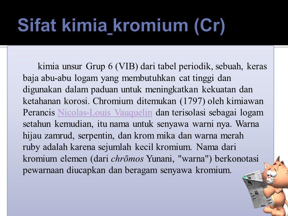 Sifat kimia kromium (Cr)