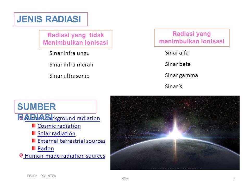 Radiasi yang tidak Menimbulkan ionisasi