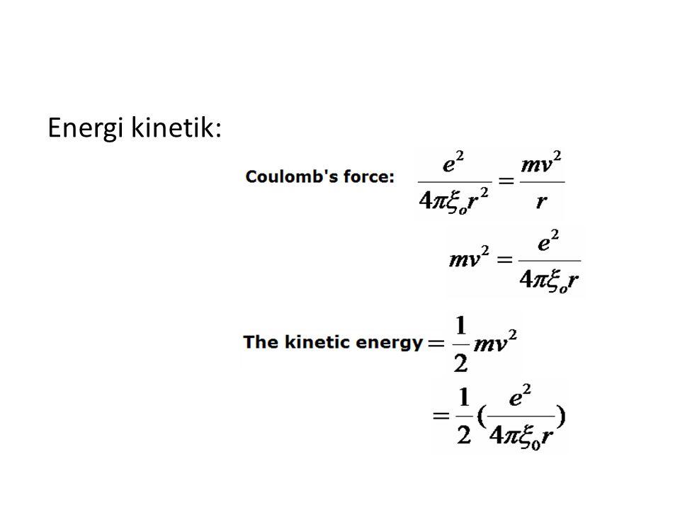 Energi kinetik: