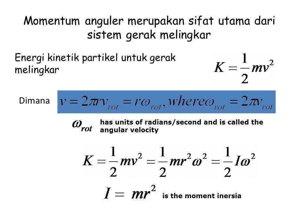 Momentum anguler merupakan sifat utama dari sistem gerak melingkar