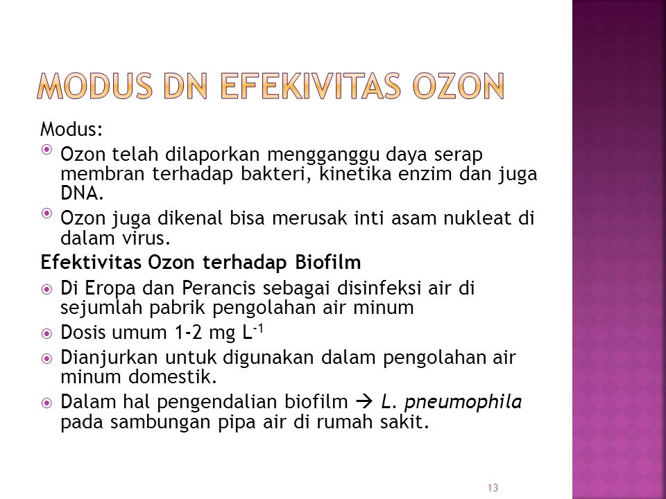 Modus dn Efekivitas Ozon