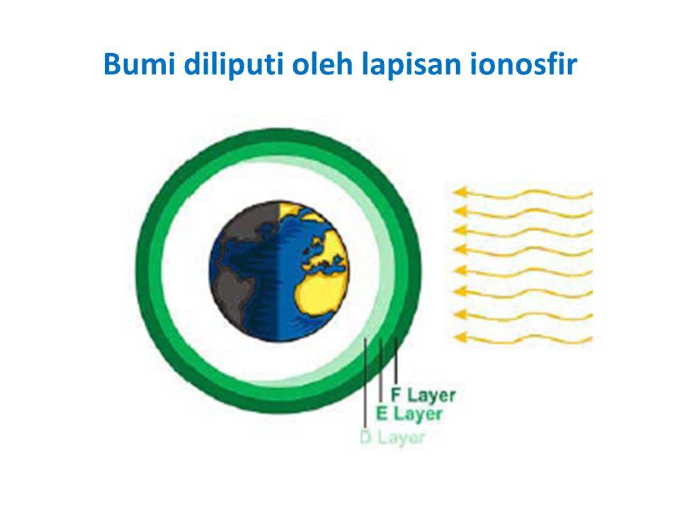 Bumi diliputi oleh lapisan ionosfir