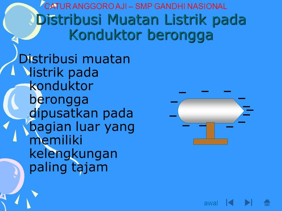 Distribusi Muatan Listrik pada Konduktor berongga