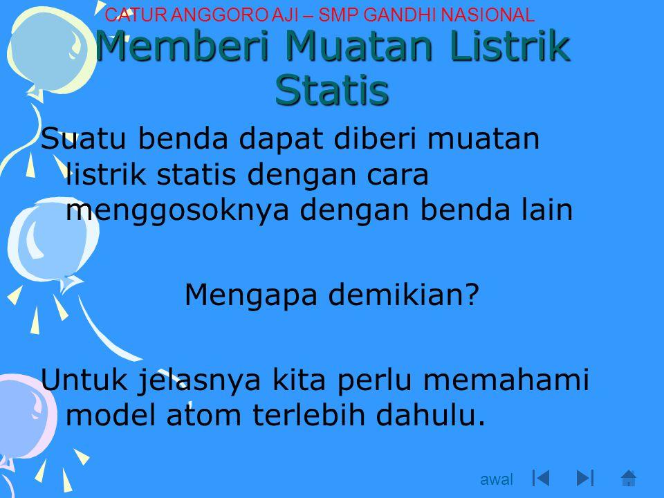 Memberi Muatan Listrik Statis