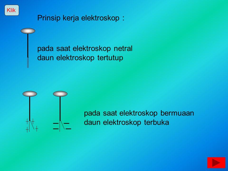 Prinsip kerja elektroskop :
