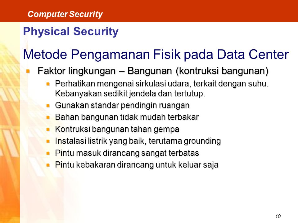 Metode Pengamanan Fisik pada Data Center