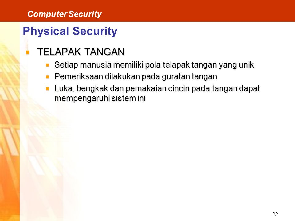 Physical Security TELAPAK TANGAN