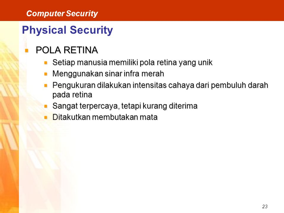Physical Security POLA RETINA