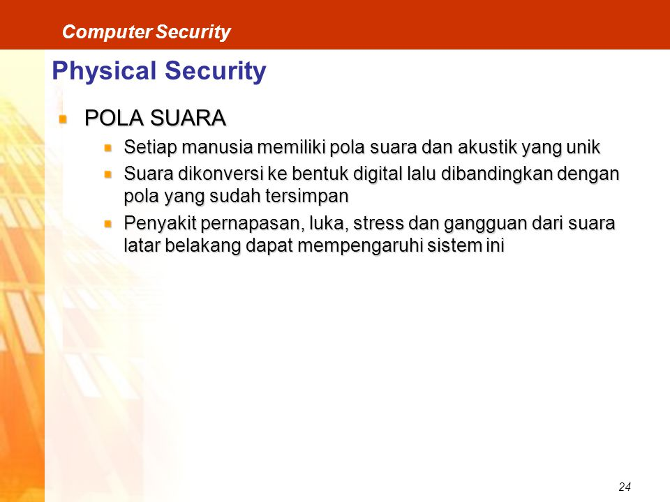 Physical Security POLA SUARA