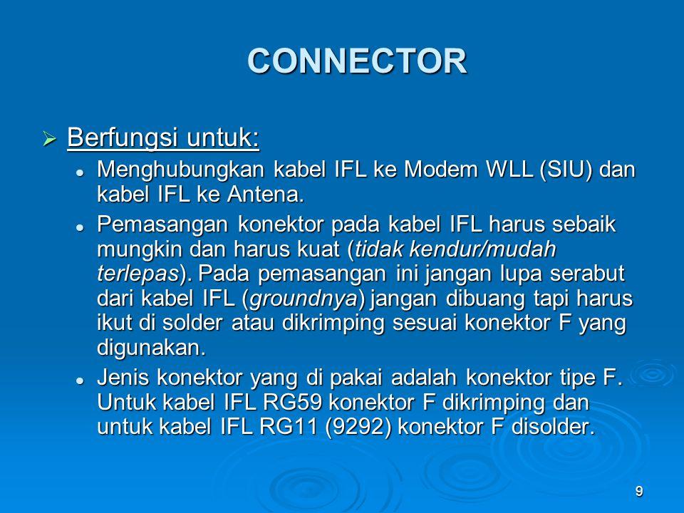 CONNECTOR Berfungsi untuk: