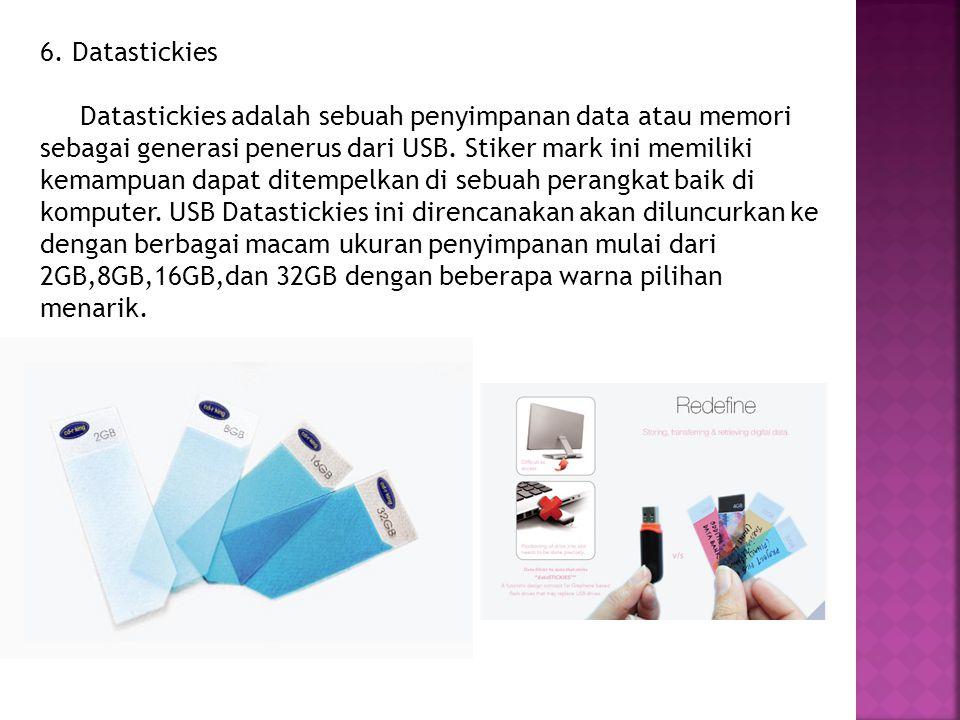 6. Datastickies